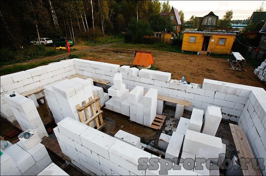 Строительство блоками своими руками фото