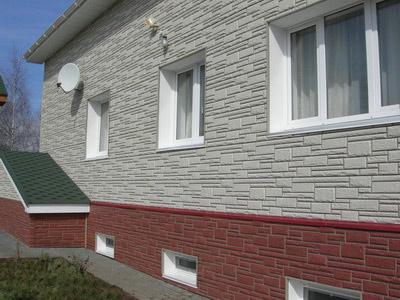 облицовка фасада дома керамогранитом